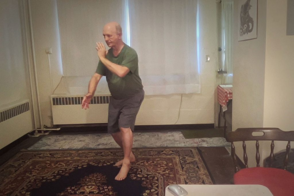 Tai Chi Instructor Practicing at home