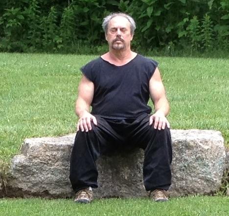 A man practicing Sitting Meditation