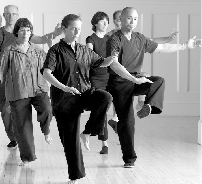 Group of Students Practicing Tai Chi